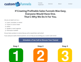customfunnels.com screenshot