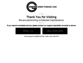 customgreekthreads.com screenshot