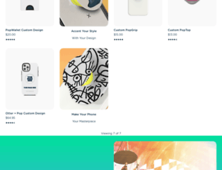 customize.popsockets.com screenshot