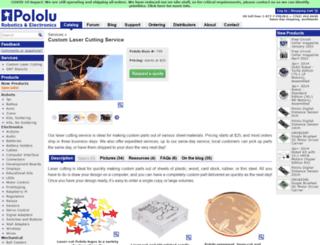 customlasercutting.com screenshot