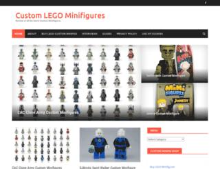 customminifig.co.uk screenshot