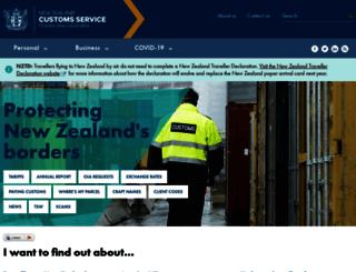 customs.govt.nz screenshot