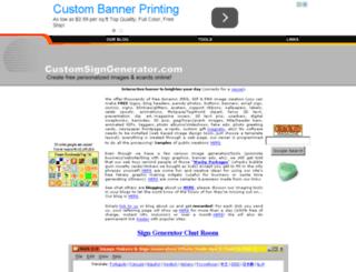 customsigngenerator.com screenshot