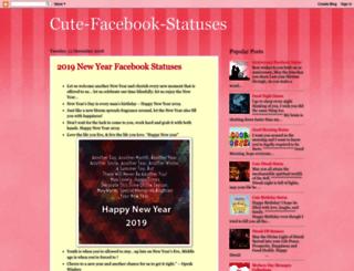 cute-facebook-statuses.blogspot.com screenshot