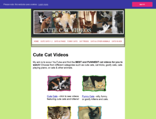 cutecatvideos.net screenshot