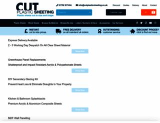 cutplasticsheeting.co.uk screenshot