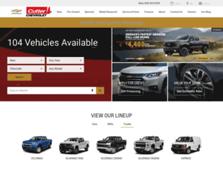 cutterchevy.com screenshot
