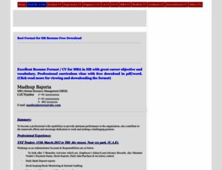 cv-resumesamples.blogspot.com screenshot