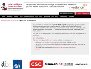 cvtheque-it-banque-assurance-finance-de-marches.informatiquefinanciere.com screenshot