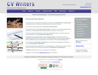cvwriters.co.za screenshot