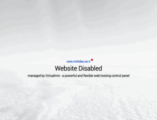 cwis.mshdiau.ac.ir screenshot