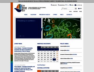 cy2012.eu screenshot