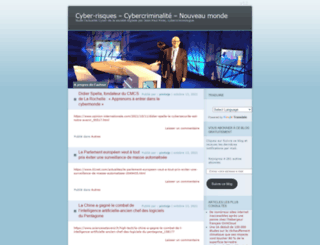 cybercriminalite.wordpress.com screenshot