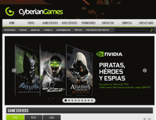 cyberiangames.com.ar screenshot