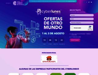 cyberlunes.com.co screenshot