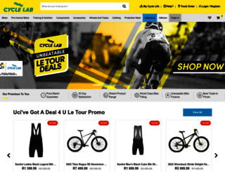 cyclelab.com screenshot