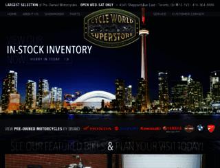 cycleworldsuperstore.com screenshot