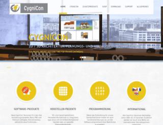 cygnicon.de screenshot