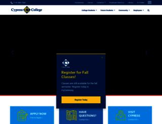 cypresscollege.edu screenshot