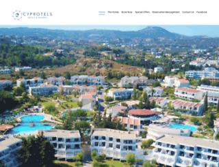 cyprotelshotels.com screenshot
