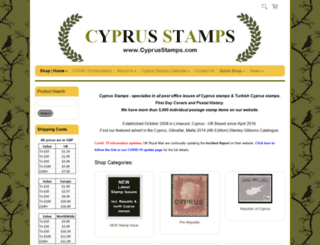 cyprusstamps.co.uk screenshot