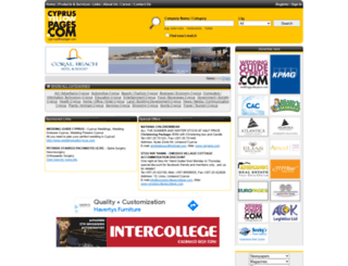 cyprusyellowpages.com screenshot