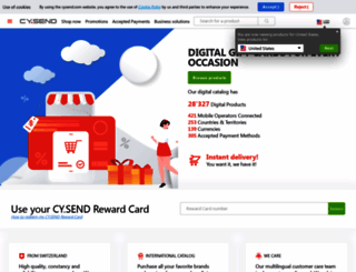 cysend.com screenshot