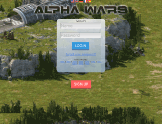 cz.alphawars.com screenshot
