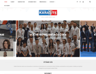 czechkarate.cz screenshot