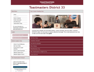 d33.toastmastersclubs.org screenshot