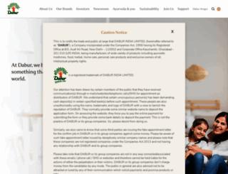 dabur.com screenshot