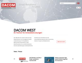 dacomwest.de screenshot