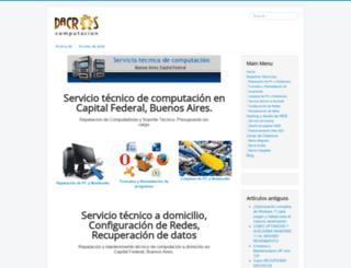 dacros.com.ar screenshot
