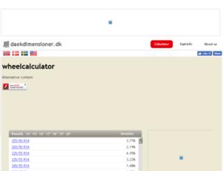 daekdimensioner.dk screenshot