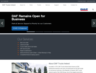 daf.ie screenshot