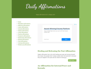 daily-affirmations.com screenshot