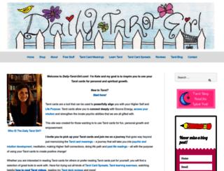 daily-tarot-girl.com screenshot
