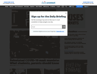 dailycomet.com screenshot