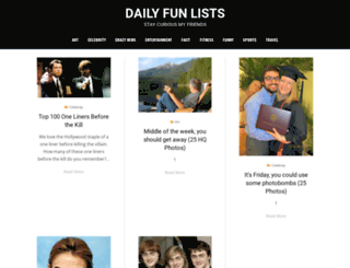 dailyfunlists.com screenshot