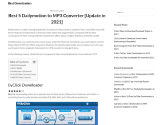 dailymotiontomp3.com screenshot