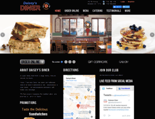 daiseysdiner.com screenshot