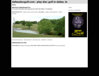 dallasdiscgolf.com screenshot