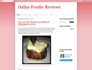 dallasfoodie.dgdesign.biz screenshot