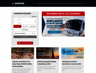 damas-sa.es screenshot