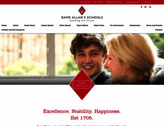 dameallans.co.uk screenshot