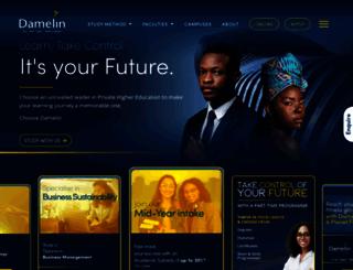 damelin.co.za screenshot