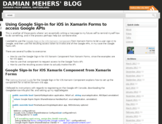 damianblog.com screenshot