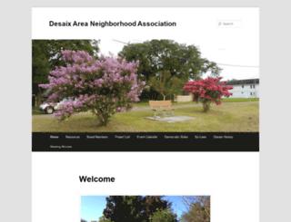 danadesaix.org screenshot