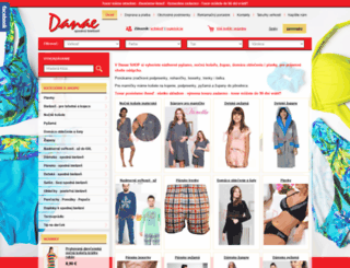 danaeshop.sk screenshot