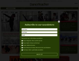 dance-teacher.com screenshot